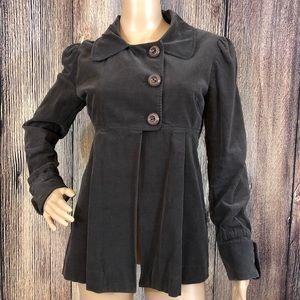 Kensie Girl | Babydoll Corduroy Grey Jacket | L